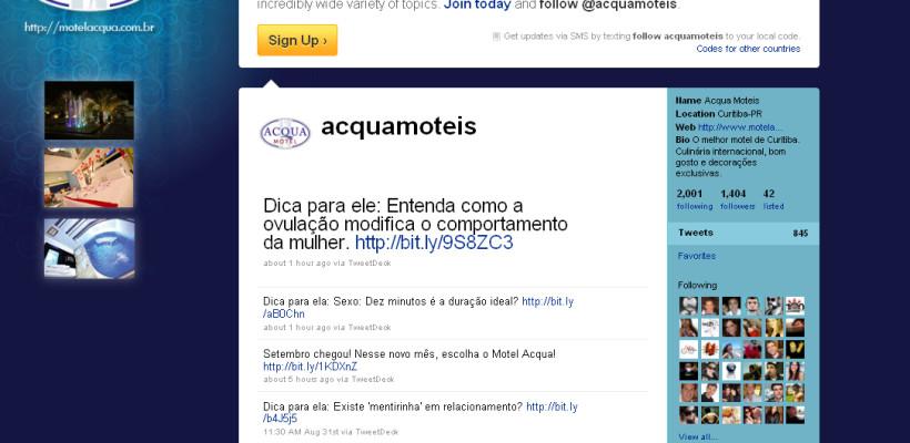 Twitter do Acqua Motel é destaque na internet