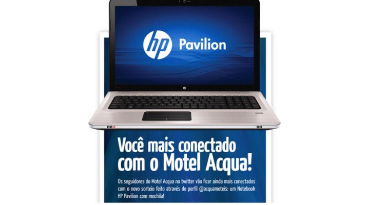 Acqua Motel realiza mais uma promoção pelo twitter