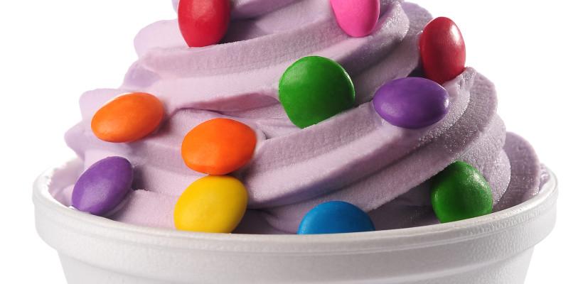 Opção de frozen yogurt da Yoguland