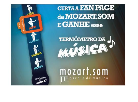 Ação da Mozart.som no Facebook é criada pela Priory