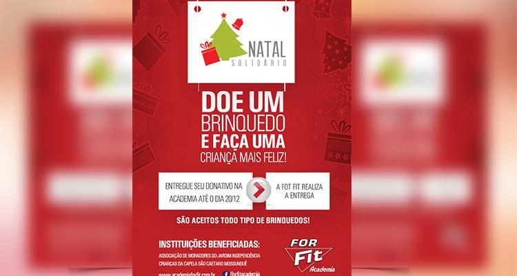 For Fit promove campanha Natal Solidário